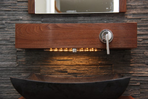 Shelf Faucet in walnut