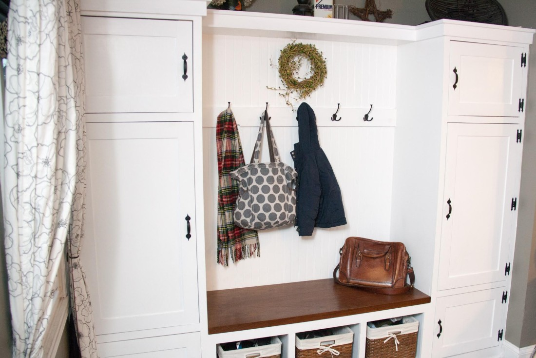 White Mudroom Inset Cabinet