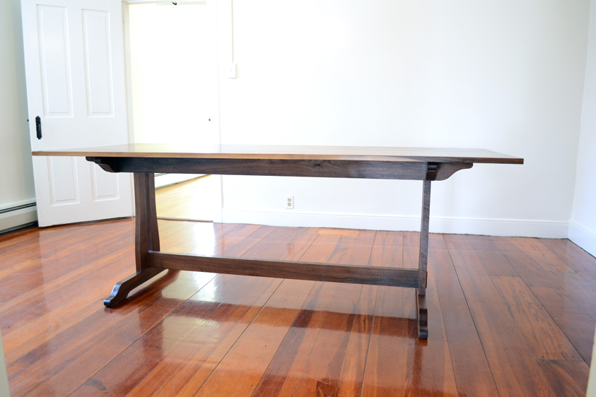 Walnut-Farmhouse-Trestle-Dining-Table-Length