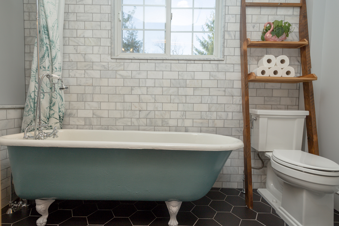 Small-Bathroom-Large-Hex-Tile-Kohler-Tresham-toilet